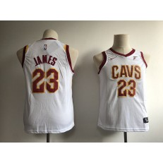 Cleveland Cavaliers #23 LeBron James White Nike Swingman Youth Jersey