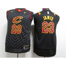 Cleveland Cavaliers #23 Lebron James Black Nike Authentic Youth Jersey