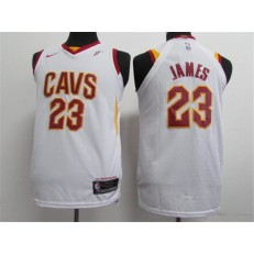 Cleveland Cavaliers #23 Lebron James White Nike Authentic Youth Jersey