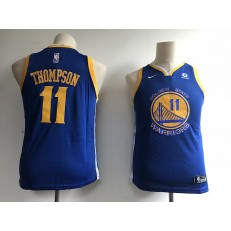 Golden State Warriors #11 Klay Thompson Blue Nike Swingman Youth Jersey