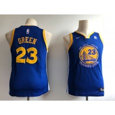 Golden State Warriors #23 Draymond Green Blue Nike Swingman Youth Jersey