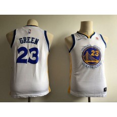 Golden State Warriors #23 Draymond Green White Nike Swingman Youth Jersey