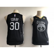 Golden State Warriors #30 Stephen Curry Black Nike Swingman Youth Jersey