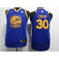 Golden State Warriors #30 Stephen Curry Blue Nike Authentic Youth Jersey