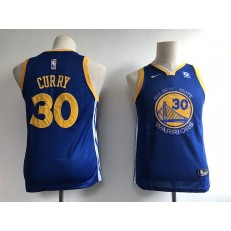 Golden State Warriors #30 Stephen Curry Blue Nike Swingman Youth Jersey