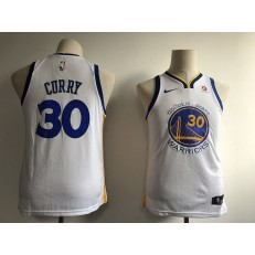 Golden State Warriors #30 Stephen Curry White Nike Swingman Youth Jersey
