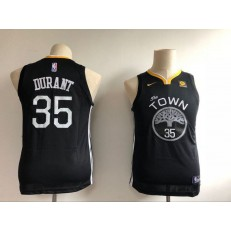 Golden State Warriors #35 Kevin Durant Black Nike Swingman Youth Jersey