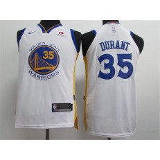Golden State Warriors #35 Kevin Durant White Nike Authentic Youth Jersey