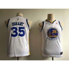 Golden State Warriors #35 Kevin Durant White Nike Swingman Youth Jersey