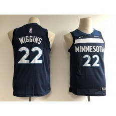 Minnesota Timberwolves #22 Andrew Wiggins Navy Blue Nike Swingman Youth Jersey