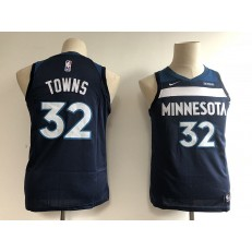 Minnesota Timberwolves #32 Karl-Anthony Towns Navy Blue Nike Swingman Youth Jersey