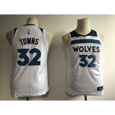 Minnesota Timberwolves #32 Karl-Anthony Towns White Nike Swingman Youth Jersey