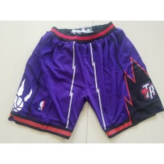 Toronto Raptors Nike Purple Throwback Men Shorts