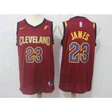 Cleveland Cavaliers #23 LeBron James Red Nike Swingman Men Jersey
