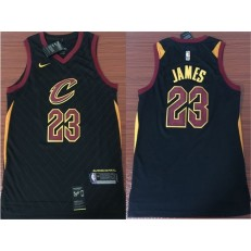 Cleveland Cavaliers #23 Lebron James Black Association Edition Swingman Men Jersey