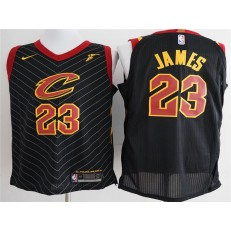 Cleveland Cavaliers #23 Lebron James Black Nike Authentic Men Jersey