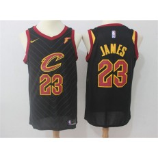 Cleveland Cavaliers #23 Lebron James Black Nike Swingman Men Jersey