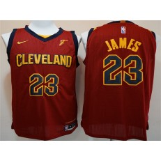 Cleveland Cavaliers #23 Lebron James Maroon Nike Authentic Men Jersey