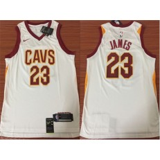 Cleveland Cavaliers #23 Lebron James White Association Edition Swingman Men Jersey