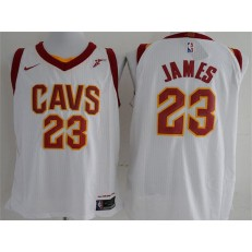 Cleveland Cavaliers #23 Lebron James White Nike Authentic Men Jersey