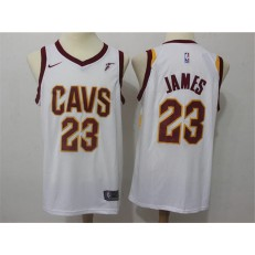 Cleveland Cavaliers #23 Lebron James White Nike Swingman Men Jersey