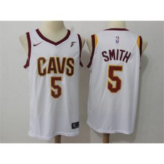 Cleveland Cavaliers #5 J.R. Smith White Nike Swingman Men Jersey