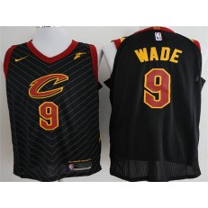 Cleveland Cavaliers #9 Dwyane Wade Black Nike Authentic Men Jersey