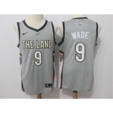 Cleveland Cavaliers #9 Dwyane Wade Gray Nike City Edition Swingman Men Jersey