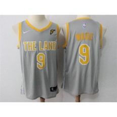 Cleveland Cavaliers #9 Dwyane Wade Gray The Land Nike Swingman Men Jersey