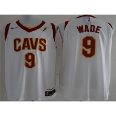 Cleveland Cavaliers #9 Dwyane Wade White Nike Authentic Men Jersey