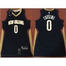 New Orleans Pelicans #0 DeMarcus Cousins Navy Nike Swingman Men Jersey Without The Sponsor's Logo
