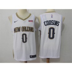 New Orleans Pelicans #0 DeMarcus Cousins White Nike Swingman Men Jersey