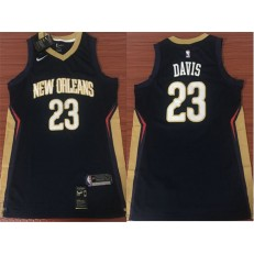 New Orleans Pelicans #23 Anthony Davis Navy Nike Swingman Men Jersey Without The Sponsor's Logo