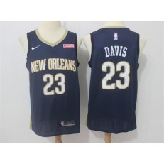 New Orleans Pelicans #23 Anthony Davis Navy Nike Swingman Men Jersey