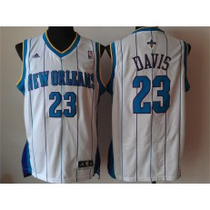 New Orleans Pelicans #23 Anthony Davis Revolution 30 Swingman White Home Men Jersey
