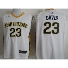 New Orleans Pelicans #23 Anthony Davis White Nike Authentic Men Jersey