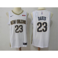 New Orleans Pelicans #23 Anthony Davis White Nike Swingman Men Jersey