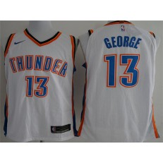 Oklahoma City Thunder #13 Paul George White Nike Authentic Men Jersey