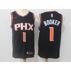 Phoenix Suns #1 Devin Booker Black Swingman Men Jersey