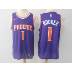 Phoenix Suns #1 Devin Booker Purple Nike Swingman Men Jersey