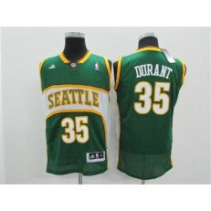Seattle SuperSonics #35 Kevin Durant Green Throwback Men Jersey