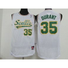 Seattle SuperSonics #35 Kevin Durant White Nike Stitched Men Jersey