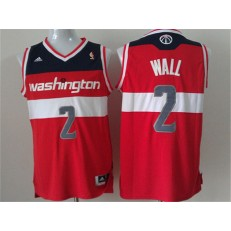 Washington Wizards #2 John Wall Red New Revolution 30 Men Jersey