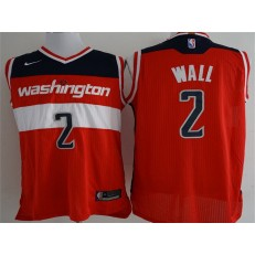 Washington Wizards #2 John Wall Red Nike Authentic Men Jersey