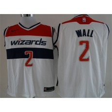 Washington Wizards #2 John Wall White Nike Authentic Men Jersey