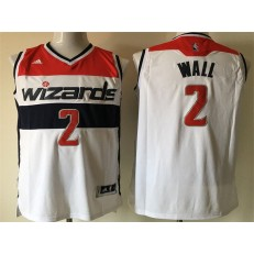 Washington Wizards #2 John Wall White Swingman Men Jersey