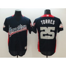 American League #25 Gleyber Torres Navy 2018 MLB All-Star Game Home Run Derby Jersey