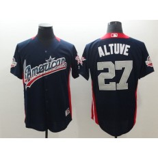 American League #27 Jose Altuve Navy 2018 MLB All-Star Game Home Run Derby Men Jersey