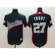 American League #27 Mike Trout Navy 2018 MLB All-Star Game Home Run Derby Men Jersey