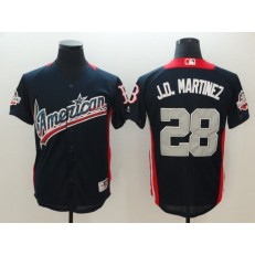 American League #28 J.D. Martinez Navy 2018 MLB All-Star Game Home Run Derby Jersey